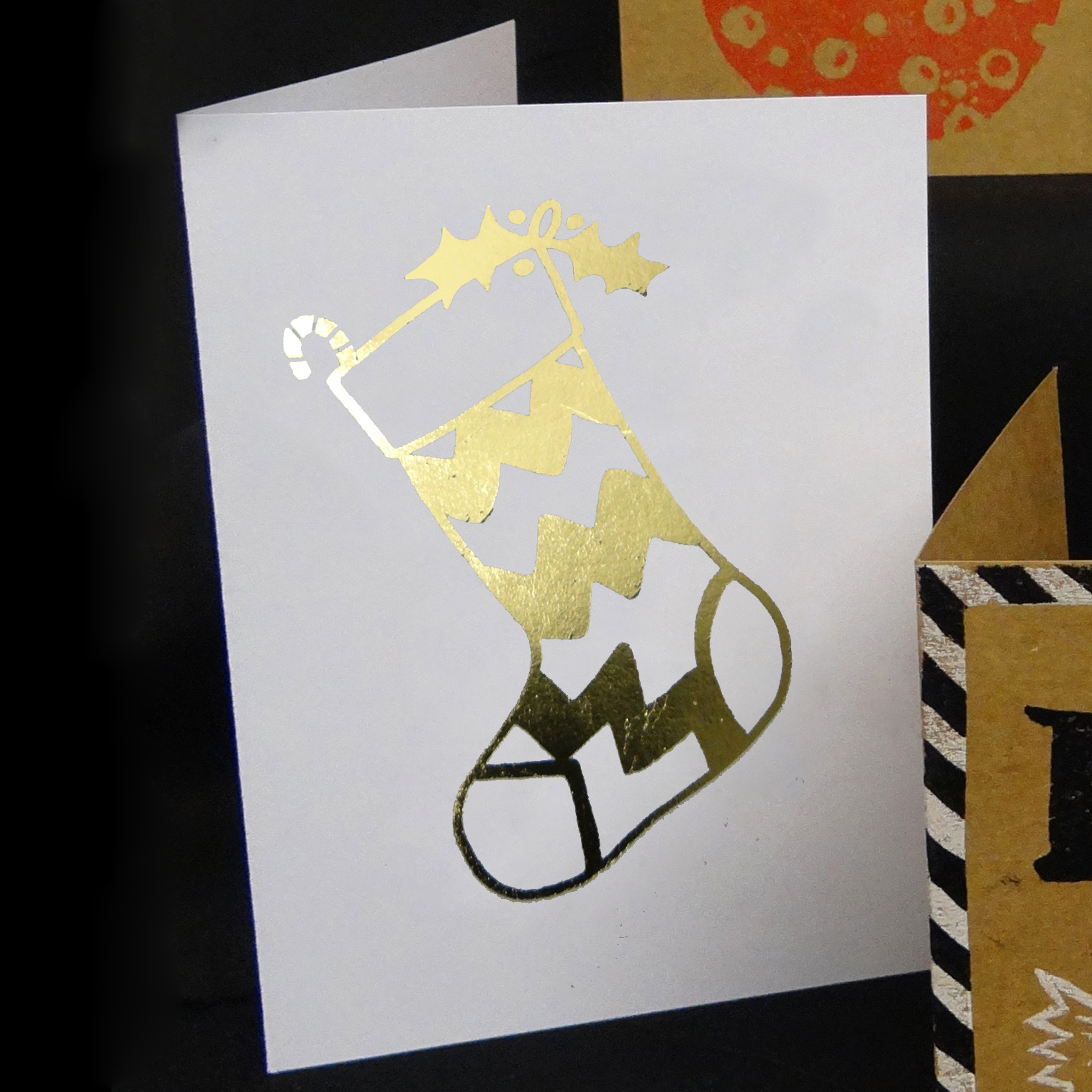 Easy Christmas Cards Six Ways Handprinted